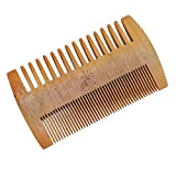 WOODEN ACCESSORIES CO Wooden Beard Combs With Cancer Design - Laser Engraved Beard Comb- Double Sided Mustache Comb