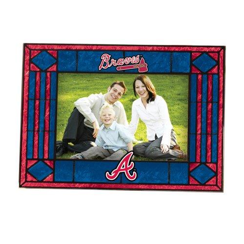 MLB Atlanta Braves Art Glass Horizontal Frame