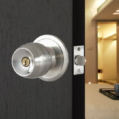 tinxs Round Ball Door Knob Safe Lock Lockset With Keys For Bedroom