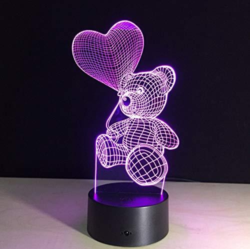 3D Touch Nachtlicht LED Herz Ballon Bär Lampe Kinder Schlafzimmer Nacht Nachtlicht Kinder Geschenk