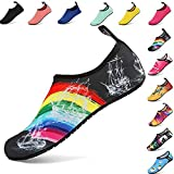 Summer Outdoor On-Slip Rubber Sole Water Shoes Barefoot Aqua Socks for Beach Swim Surf Yoga Shoes for Men Women Kids