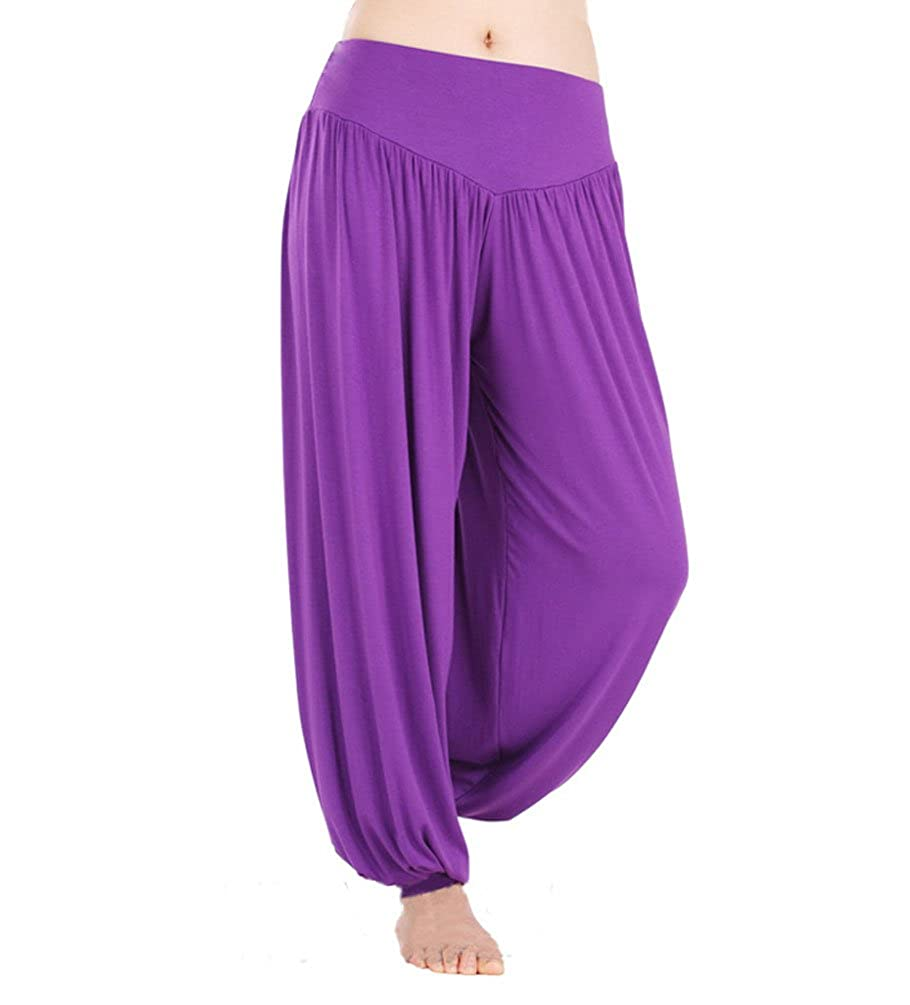 Orange pilates L Hoerev super doux spandex modal pantalon harem yoga