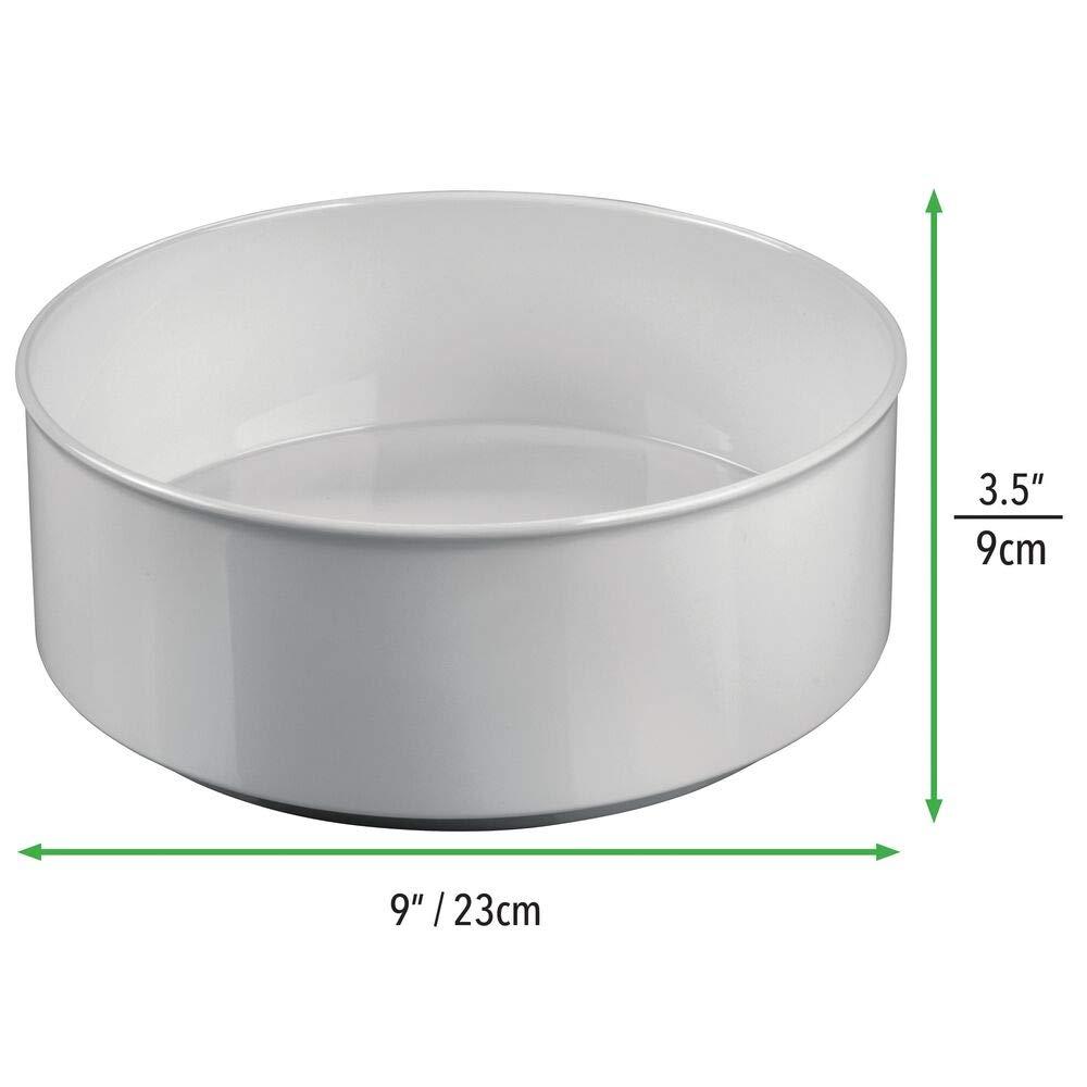 lot de 2 couleur cr/ème meuble de rangement chic pour accessoires b/éb/és biberons et t/étines mDesign tablette de rangement tournante en plastique sans BPA et acier rangement enfant circulaire