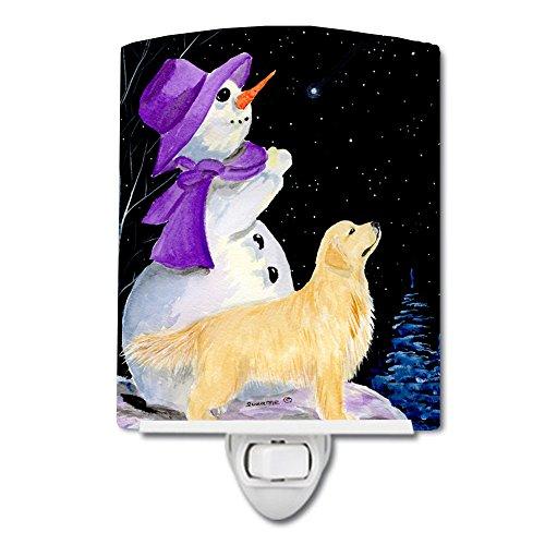 Caroline's Treasures Snowman with Golden Retriever Night Light 6