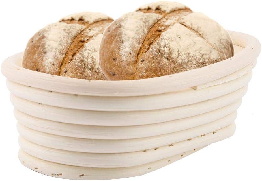 hecha a mano Cesta de mimbre para pan cesta de mimbre para hornear en casa