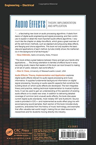 Audio Effects: Theory, Implementation and Application by CRC Press