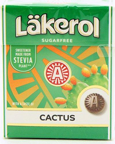 12-Pack Lakerol Licorice Sugar Free Pastilles Stevia (12-Pack Cactus)