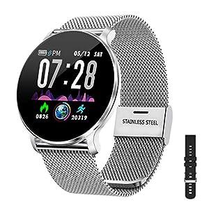 Montre Connectée Femmes Homme Smartwatch,IP68 Montre Femme Homme Pas Cher,Montre Sport étanche Podometre…