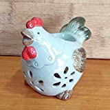 Better-way Home Decorative Chicken Animal Ceramic Aromatherapy Burner, Essential Oil Warmer, Tealight Candle Holder Bedroom Decorations Housewarming Gifts (Animal)