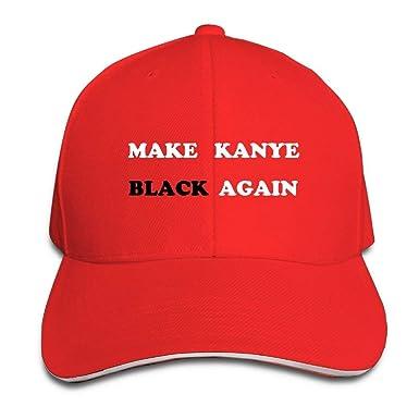 Hacer Kanye Black Again Algodón Bill Bill Gorro de béisbol Gorra ...