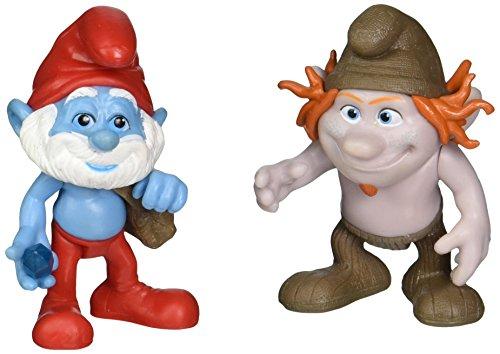 Mushroom Smurf (Smurfs Grab Em's Papa & Hackus Figure (2 Pack))