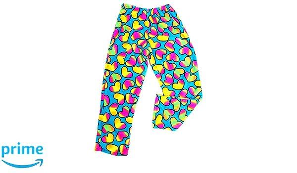 cab2e609d216 Amazon.com  Confetti and Friends Bunk Junk Fuzzy Fleece Turquoise Hearts  Pants (7 8)  Clothing