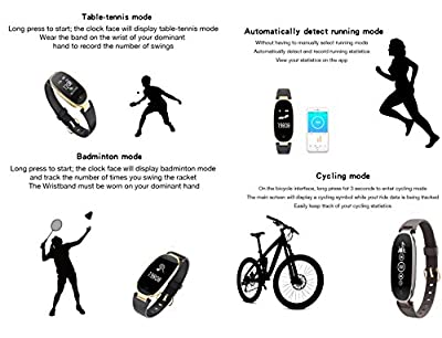 Fitness Tracker, Heart Rate Monitor Activity Tracker Sleep Monitor, Smart Bracelet Pedometer Wristband for iOS & Android, Smart Band for Women