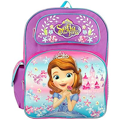 "Disney Junior Sofia the First Lovely Castle 16"" Large Backpack"