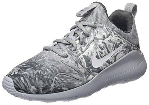 Nike Wmns Kaishi 2.0 Print, Chaussures de Running Entrainement Fille De plusieurs couleurs (Gris / Blanc)