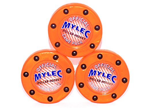 Mylec Official Roller Hockey Game Puck, Orange, (Pack of - Puck Hockey Roller