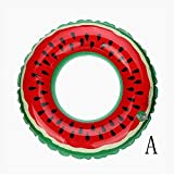 Gracefulvara PVC Inflatable Watermelon Swimming Ring Adult Children Inflatable Swimming Pool Red-Size 60