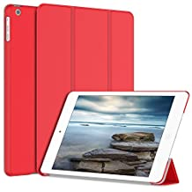 iPad Air Case, JETech® Gold Serial iPad Air Slim-Fit Smart Case Cover for Apple iPad Air iPad 5 with Auto Sleep/Wake Feature (Red)