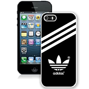 Adidas White Abstract Design Custom iPhone 5 5S Case