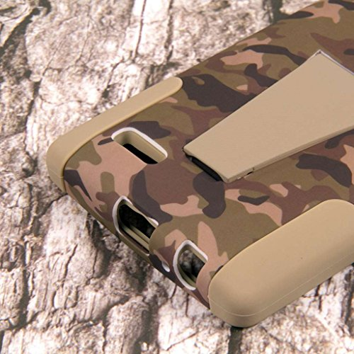 LG G4 Camo Case, MPERO IMPACT X Series Dual Layered Tough Durable Shock Absorbing Silicone Polycarbonate Hybrid Kickstand Case for LG G4 [Perfect Fit & Precise Port Cut Outs] - Hunter Camo Photo #3