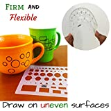 Mr. Pen- French Curve and Template Ruler Set(6 Pc), Stencils, Drawing Template for All Purpose, Circle Template, French Curve Ruler, French Curve Template, Drawing Templates Shape, Journaling Supplies