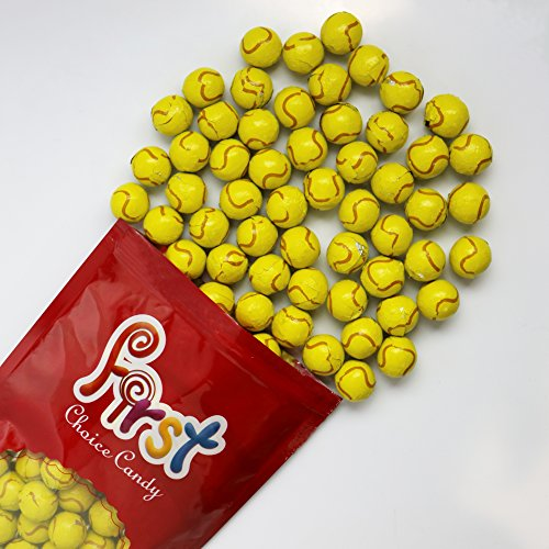 FirstChoiceCandy Chocolate Tennis Balls 2 Pound Resealable Bag Chocolate Balls Candy