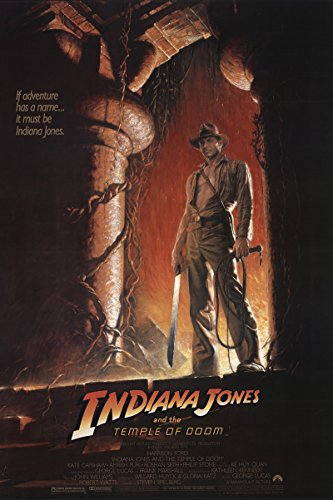 Indiana Jones And The Temple Of Doom 1984 Authentic 27  X 41  Original Movie Poster Rolled Fine Harrison Ford Adventure Steven Spielberg U S  One Sheet