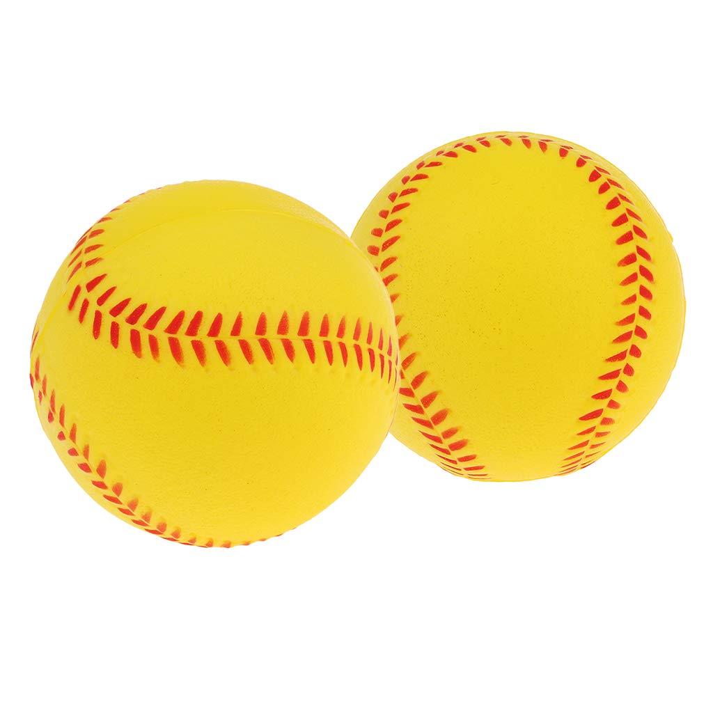 SM SunniMix 2pcs 9 inches Kids Safety Batting Training Exercise Baseball Softball Bouncy Balls