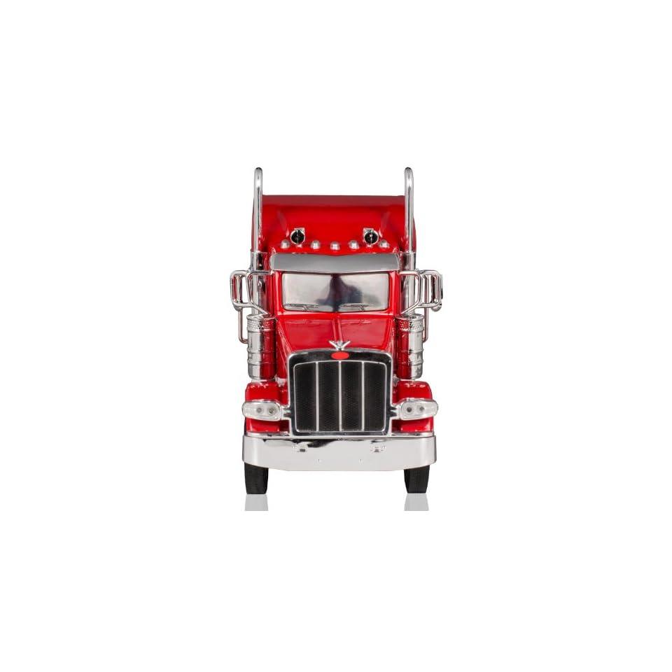 Peterbilt 389/Kenworth W900 Semi Truck Die Cast Toy   132 Scale (Red)