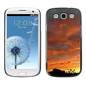 Qstar Arte & diseño plástico duro Fundas Cover Cubre Hard Case Cover para SAMSUNG Galaxy S3 III / i9300 / i747 ( Sky Sunset Sunrise View Trees Forest Clouds)