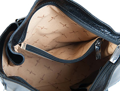 Gianni Conti, feine italienische Handtasche 903444 Leder schwarz