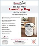 Secure Travel Premium Extra Large Laundry Tote Bag - 100% Bed Bug Proof Zipper Closure - Heavy Duty Durable w/ Strong Carry Straps Handles – Lightweight Tear Resistant Material – Machine Washable