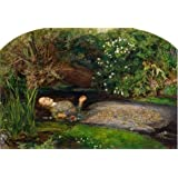 Oil Painting 'John Everett Millais - Ophelia,1851-1852', 16 x 24 inch / 41 x 60 cm , on High Definition HD canvas prints is for Gifts And Bath Room, Game Room And Kitchen Decoration, HD