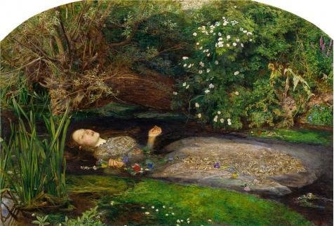 Oil Painting 'John Everett Millais - Ophelia,1851-1852', 16 x 24 inch / 41 x 60 cm , on High Definition HD canvas prints is for Gifts And Bath Room, Game - Seattle Eyeglasses Best