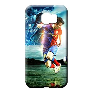 samsung galaxy s6 edge Hybrid Skin Cases Covers Protector For phone phone carrying skins the player of barcelona lionel messi dribbling