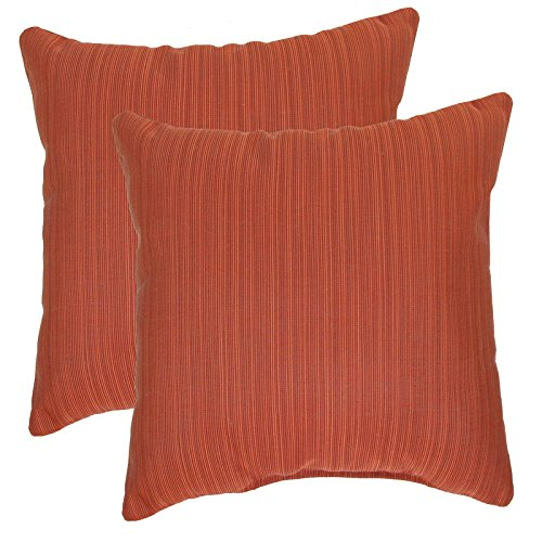 urbandesignfurnishings.com Made in USA Sunbrella Dupione Papaya Outdoor 20X20 Throw Accent Pillow 2-Pack