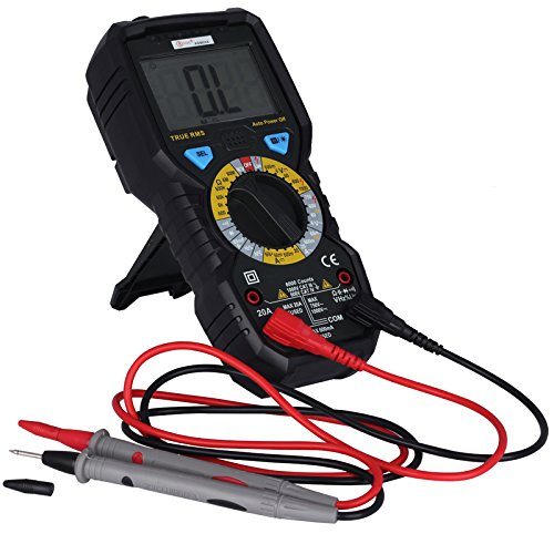 Universal Jumper Lead Set (ADM08A 6000 Counts True RMS Digital Multimeter with 1000V AC/DC Voltage Resistance Capacitance Frequency Duty Ratio Triode Tester)