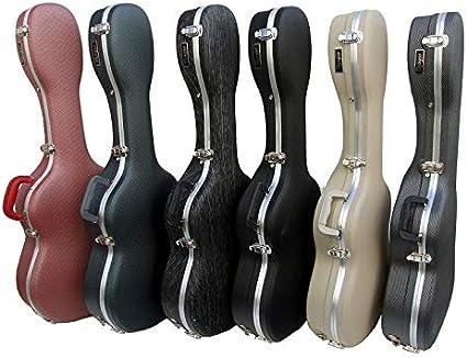 Estuche ABS para Guitarra Clásica, marca Cibeles (Negro Rayado): Amazon.es: Instrumentos musicales