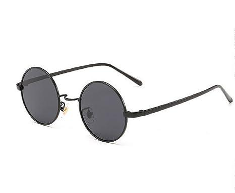 ( Noir ) Lunettes De soleil Hippie Rondes Modèle Jhon Lennon Homme Unisex Polarisée UV400 oNI0lnL