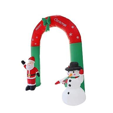 Amazon.com: QIUUE - Arco inflable de Navidad, diseño de Papá ...