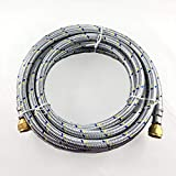 3′ STAINLESS STEEL BRAIDED FLEXIBLE HOSE FOR NATURAL/PROPANE GAS 3/8″ FEMALE FLARE BRASS NUT BOTH ENDS Review
