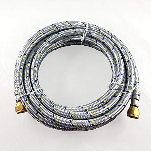 (16' FLEXIBLE STAINLESS STEEL BRAIDED HOSE FOR NATURAL /PROPANE GAS 3/8