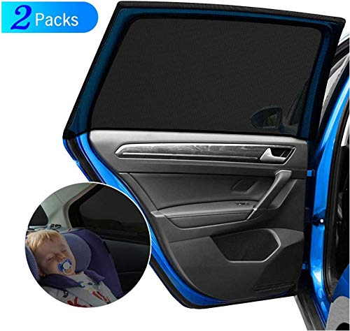 Stardom Car Side Window Sun Shade,SUV Large Baby (2 Pcs) Premium Breathable Mesh Sun Shield Protect Perfect Fit Rectangular Window. Your Babies and Kids from UV | Easy Fit | Fits Most SUV