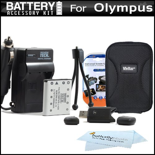 Essential Accessory Kit For Olympus VR-320 VR-310, Stylus VG-180 Digital Camera Includes (Li 42b Lithium Battery)