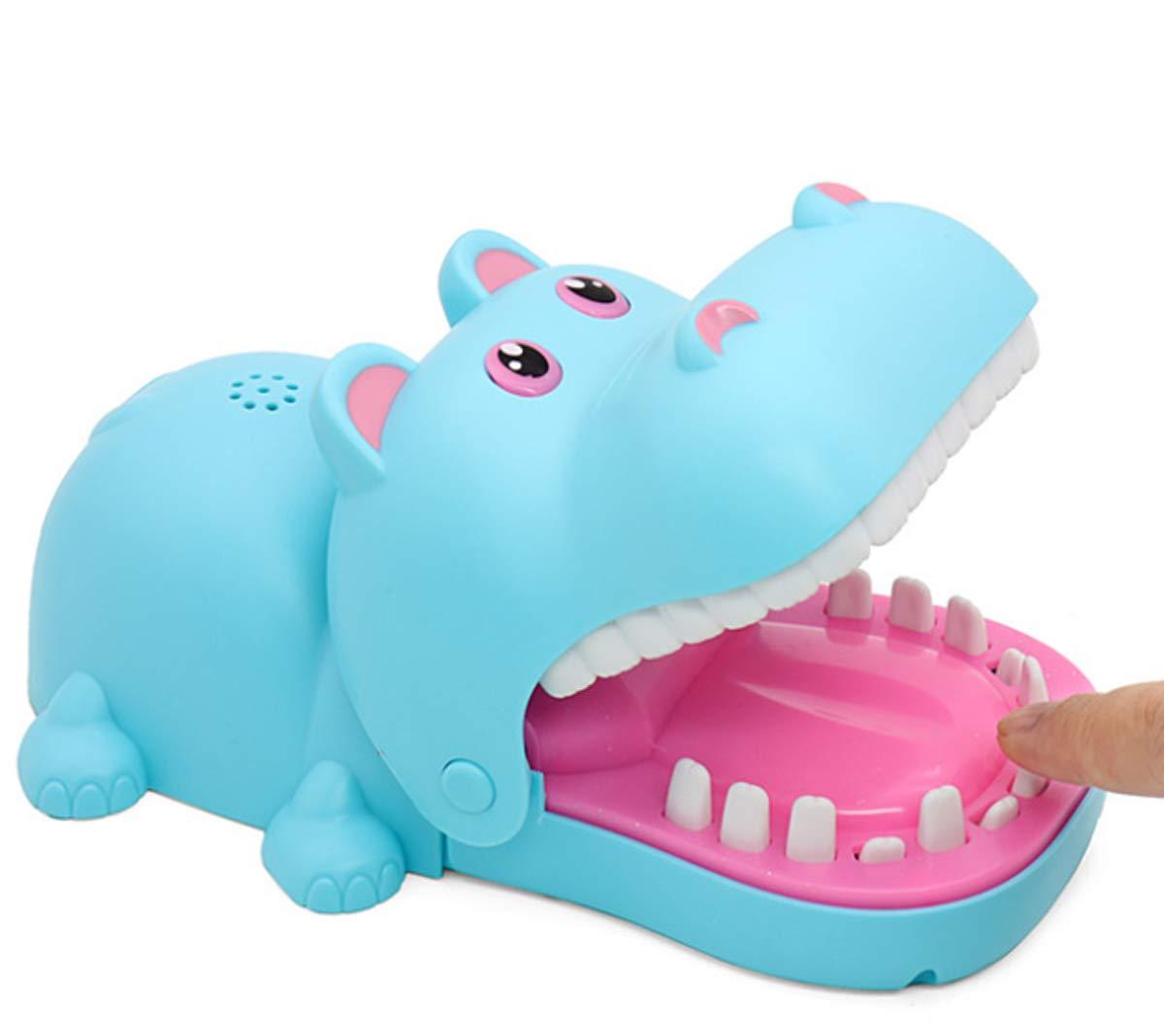 Practical Jokes Hippo Dentist Biting Finger Fun Games Funnier (Blue & Big Size) by Oun Nana