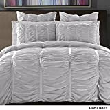 California Design Den Quilt/Coverlet Set - 100% Pure Natural Cotton, Luxurious Bedspread, Breathable, All Season Bedding Collection, Soft Satin Weave, 3 Pc, Twin/Twin XL Size, Light Grey