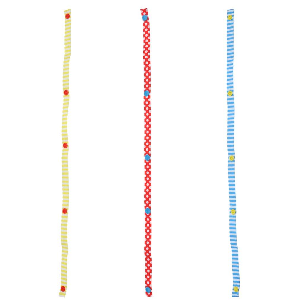 MonkeyJack 3 Pieces Toys Stroller Accessory Strap Holder Bind Belt Anti-Drop Hanger Belt