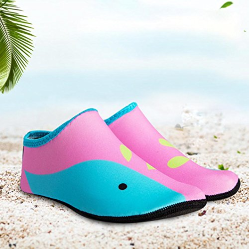 IGEMY children Swimm Diving Socks Outdoor Water Sport Scratche Non-Slip Shoes Seaside Pink aE7k35d7i