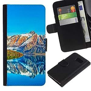 All Phone Most Case / Oferta Especial Cáscara Funda de cuero Monedero Cubierta de proteccion Caso / Wallet Case for Samsung Galaxy S6 // Beautiful Mountain Scenery