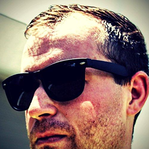 Eye Love Polarized Sunglasses for Men & Women | Glare-Free | 100% UV Blocking Matte Black Frame | Grey High Definition Polarized Lenses